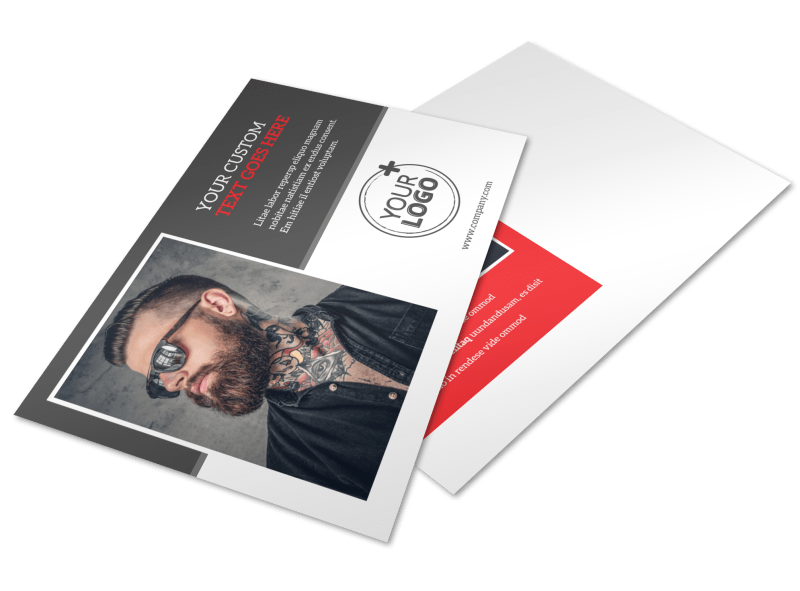 Creative Ink Tattoos Postcard Template Preview 1