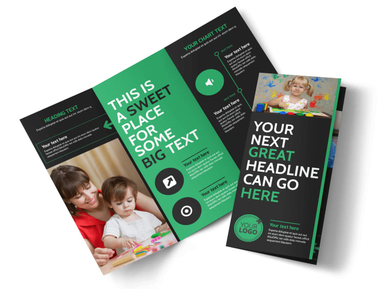 Child Development Center Tri-Fold Brochure Template