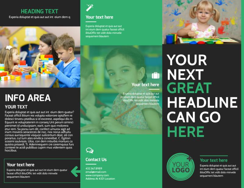 Child Development Center Brochure Template Preview 2