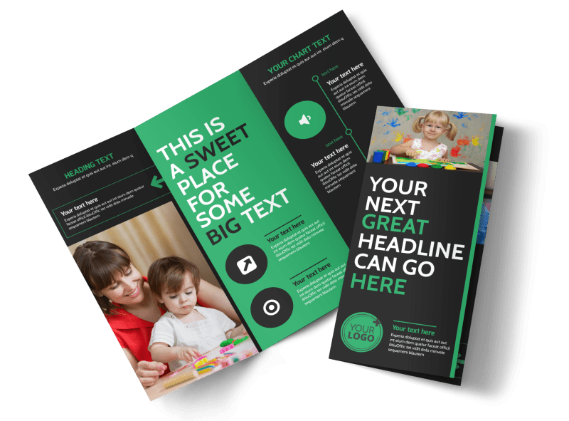 Child Development Center Brochure Template Preview 1