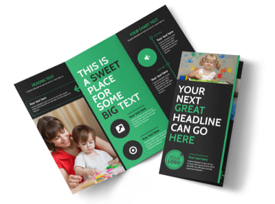 Child Development Center Tri-Fold Brochure Template preview
