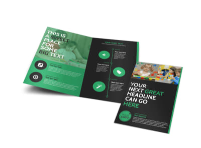 Child Development Center Bi-Fold Brochure Template