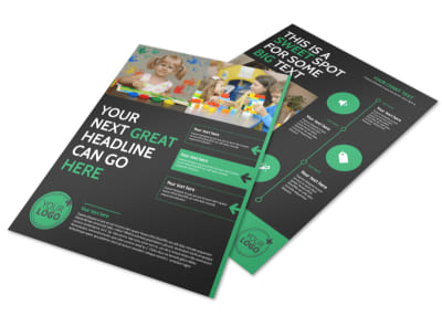 Child Development Center Flyer Template preview