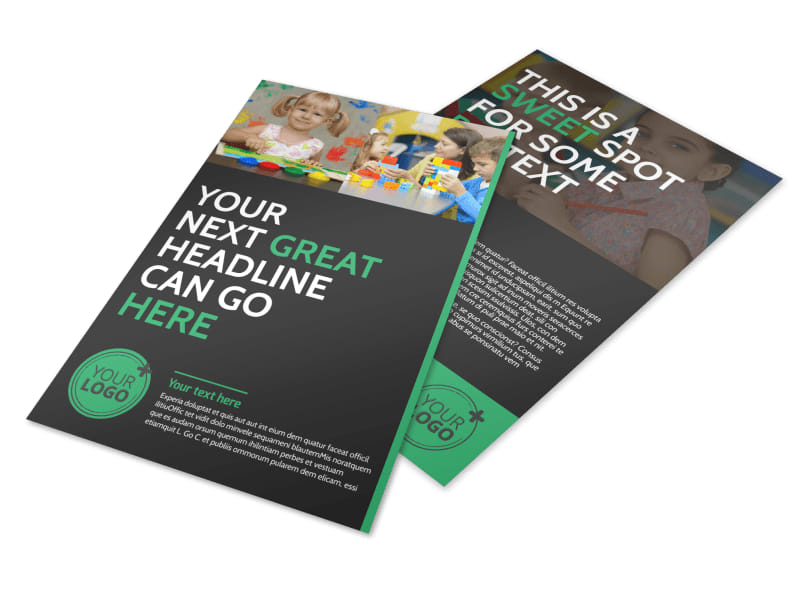child care flyer templates