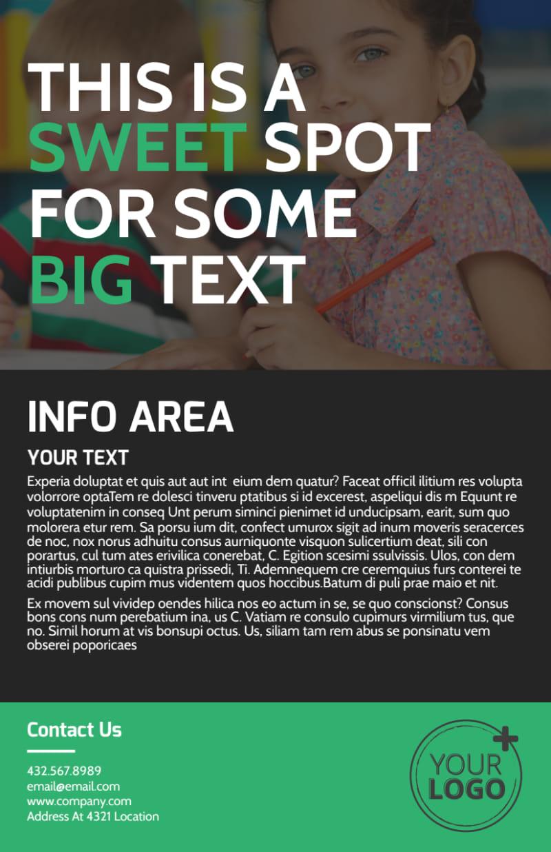 Child Development Center Flyer Template Preview 3