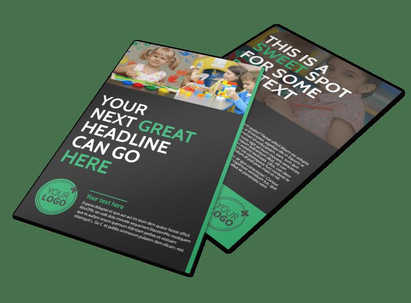 Child Development Center Flyer Template Preview 1