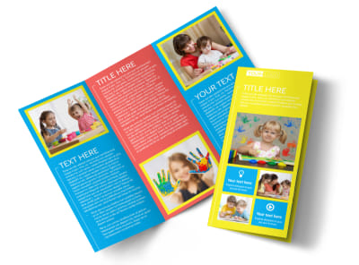Bright Futures Learning Center Tri-Fold Brochure Template