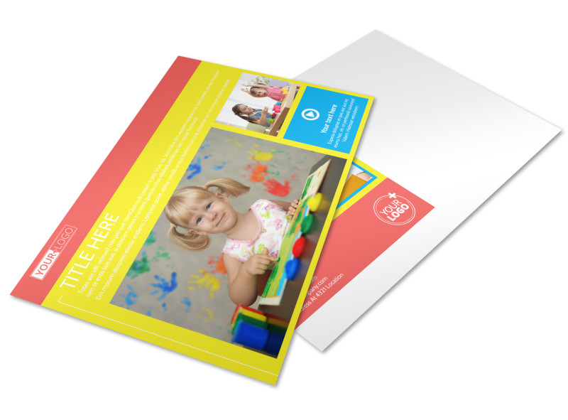 Bright Futures Learning Center Postcard Template