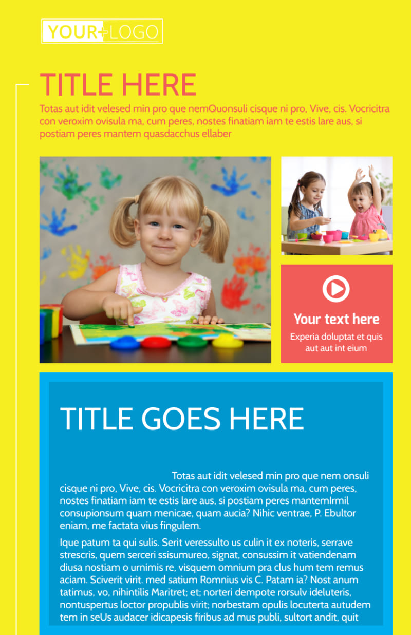 Bright Futures Learning Center Flyer Template Preview 2