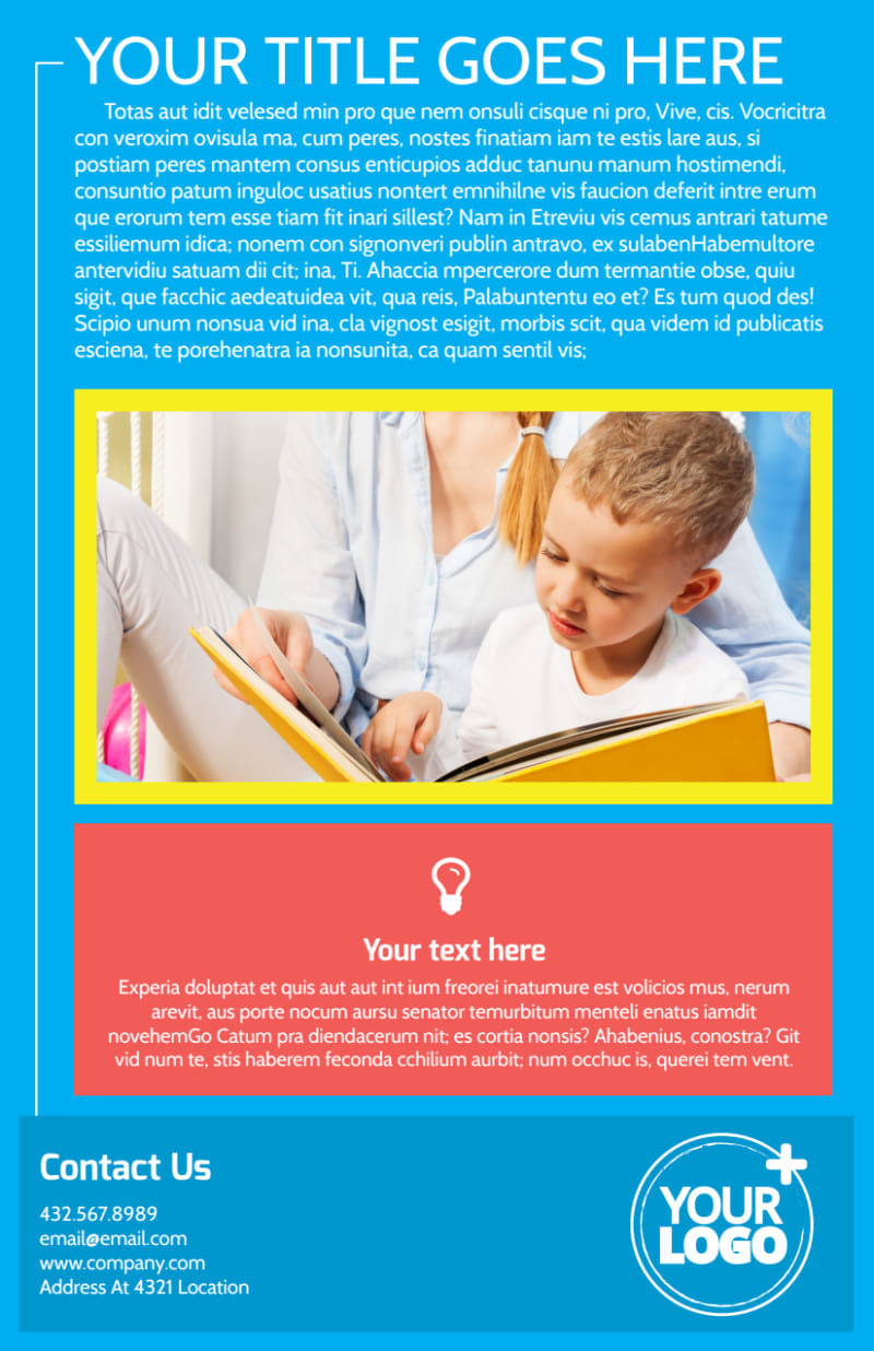 Bright Futures Learning Center Flyer Template Preview 3