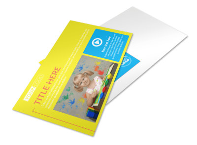 Bright Futures Learning Center Postcard Template preview
