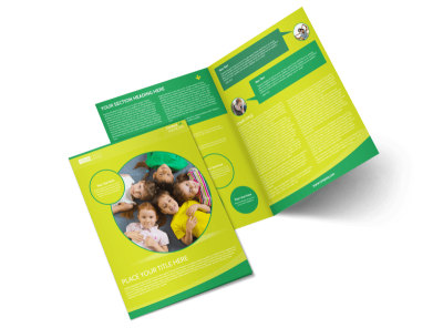 Child Care Learning Center Bi-Fold Brochure Template