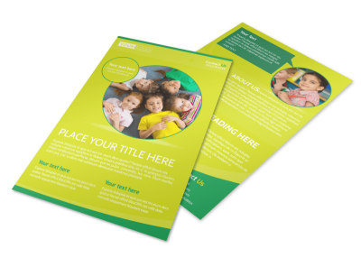 Child Care Learning Center Flyer Template preview