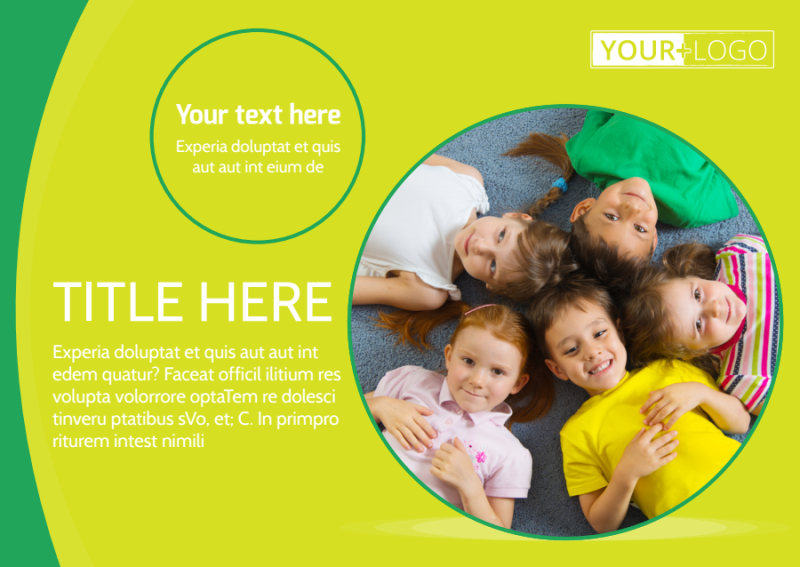 Child Care Learning Center Postcard Template Preview 2