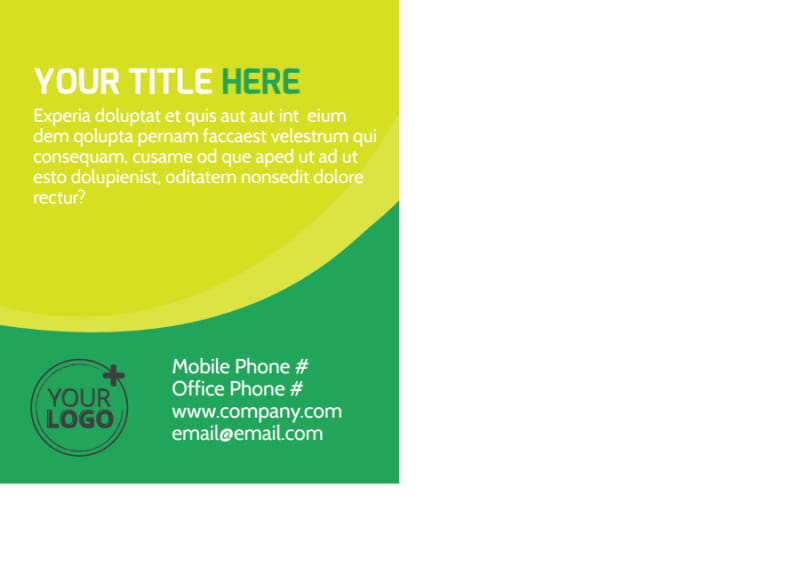 Child Care Learning Center Postcard Template Preview 3