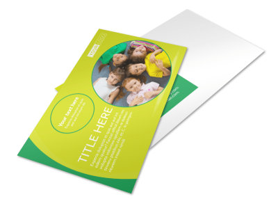 Child Care Learning Center Postcard Template preview