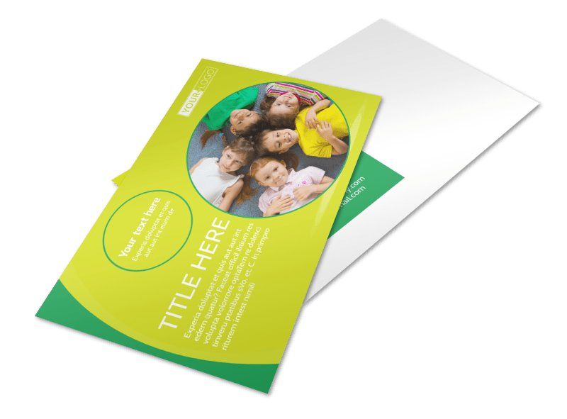 Child Care Learning Center Postcard Template Preview 1