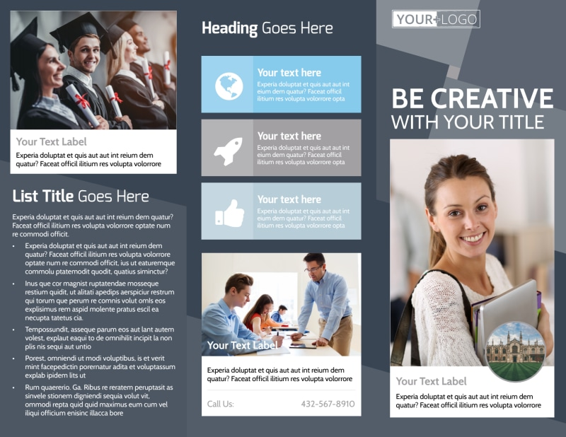 Private College Brochure Template Preview 2