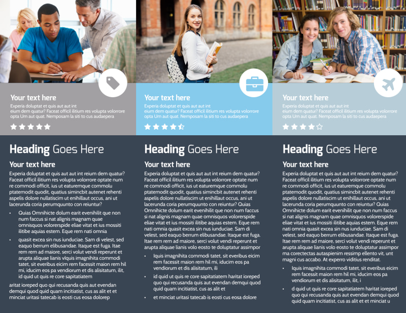 Private College Brochure Template Preview 3