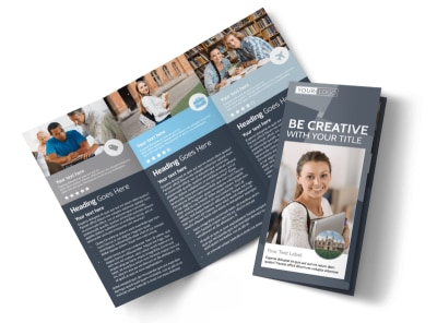 Private College Tri-Fold Brochure Template preview