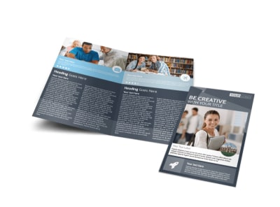 Private College Bi-Fold Brochure Template