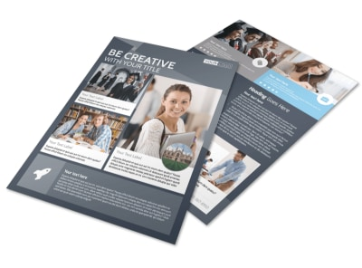Private College Flyer Template