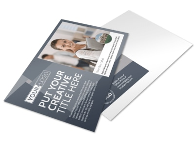Private College Postcard Template