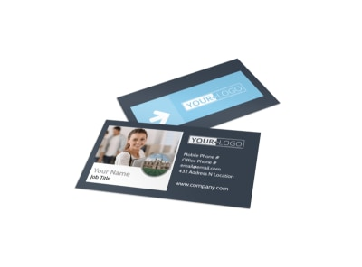 Private College Business Card Template preview