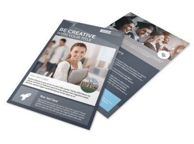 Private College Flyer Template preview