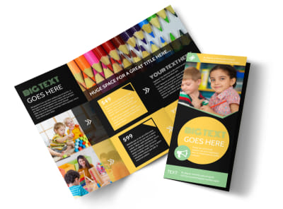 Early Years Learning Center Tri-Fold Brochure Template preview