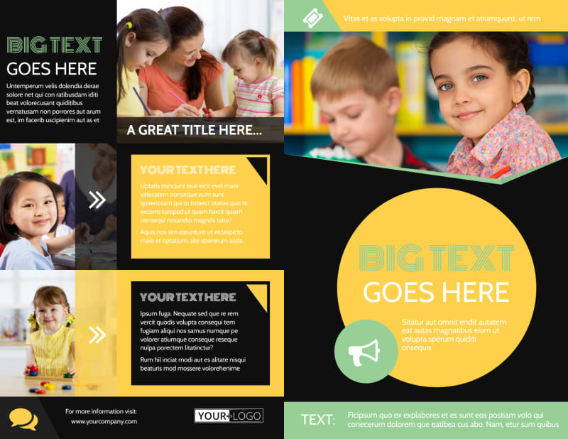 Early Years Learning Center Brochure Template Preview 2