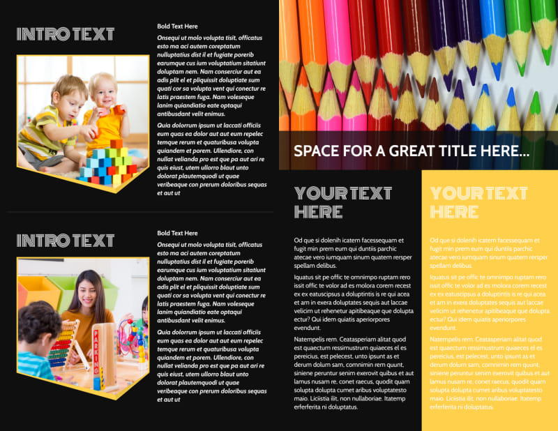 Early Years Learning Center Brochure Template Preview 3