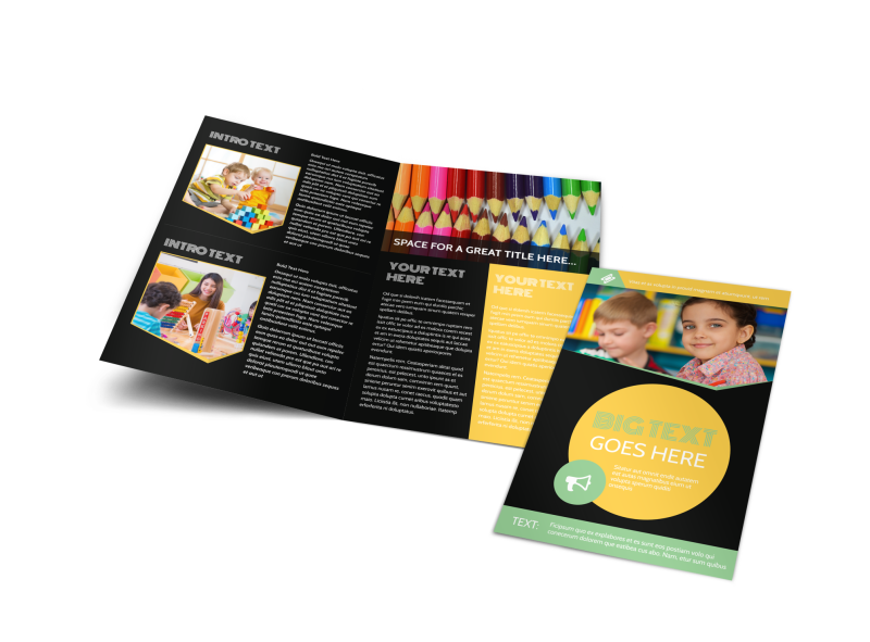 Early Years Learning Center Brochure Template Preview 1