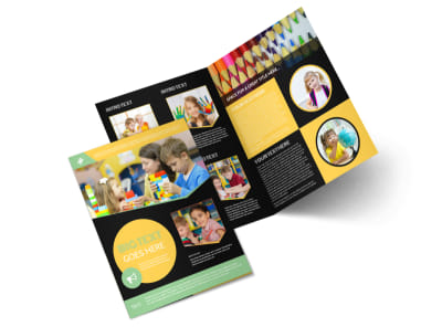 Early Years Learning Center Bi-Fold Brochure Template preview