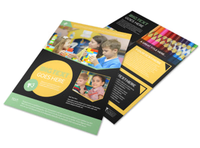 Early Years Learning Center Flyer Template preview