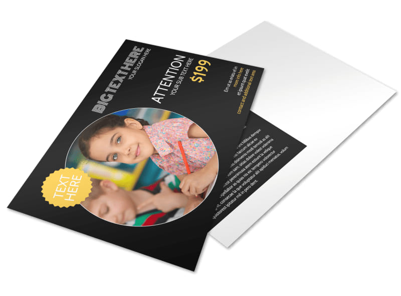Early Years Learning Center Postcard Template