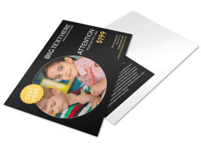 Early Years Learning Center Postcard Template preview