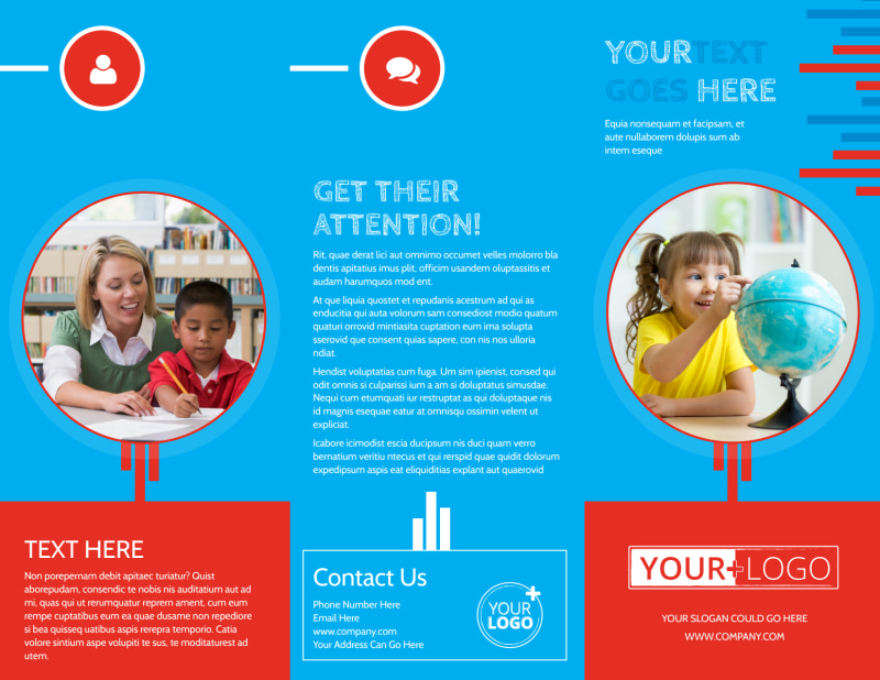 Child Learning Center Program Brochure Template Preview 2