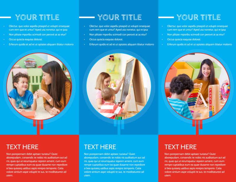 Child Learning Center Program Brochure Template Preview 3