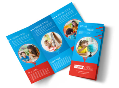 Child Learning Center Program Tri-Fold Brochure Template preview