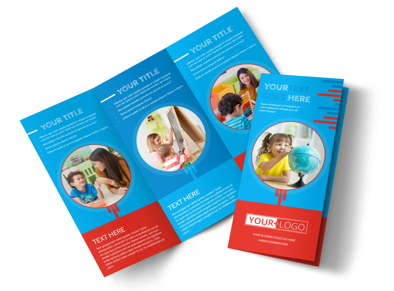 Child Learning Center Program Brochure Template Preview 1