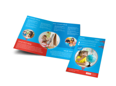 Child Learning Center Program Bi-Fold Brochure Template preview