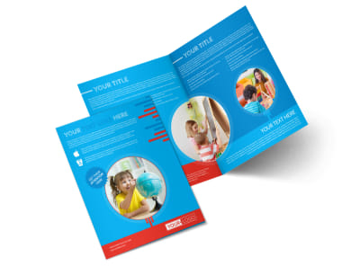Child Learning Center Program Bi-Fold Brochure Template