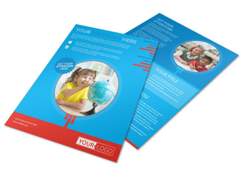 Child Learning Center Program Flyer Template