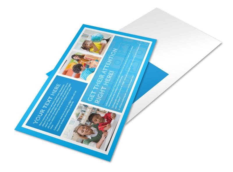 Child Learning Center Program Postcard Template