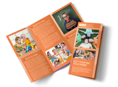 Child Learning Center Tri-Fold Brochure Template preview