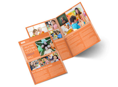 Child Learning Center Bi-Fold Brochure Template