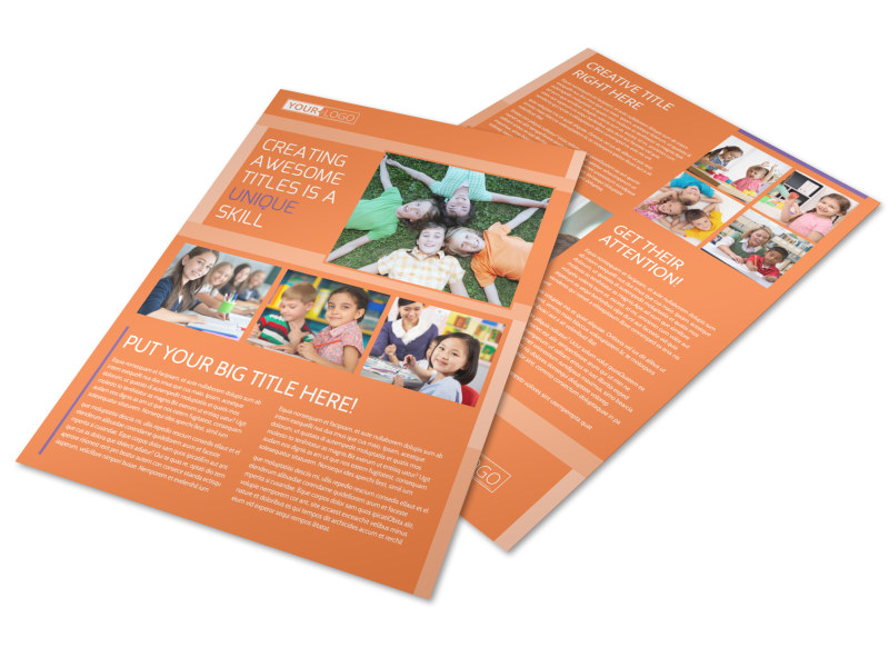 Child Learning Center Flyer Template