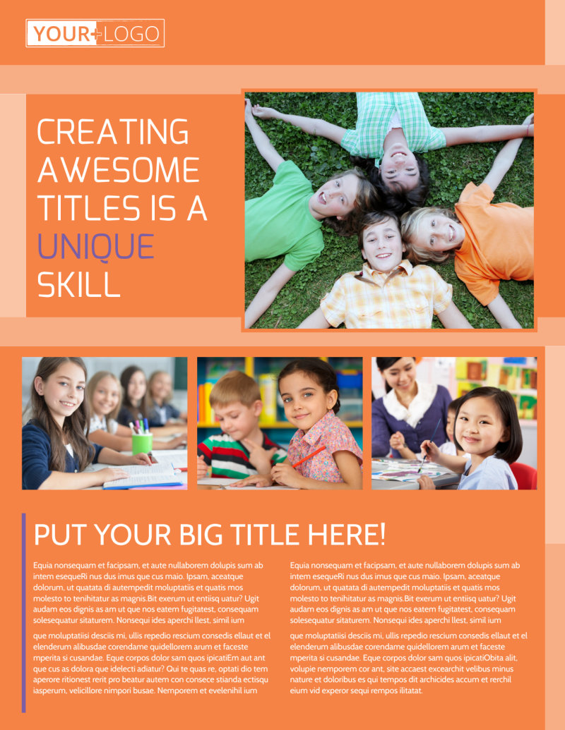 Child Learning Center Flyer Template Preview 2