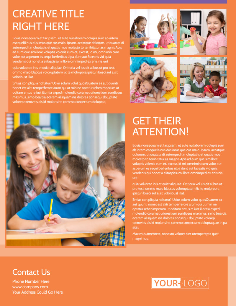 Child Learning Center Flyer Template Preview 3
